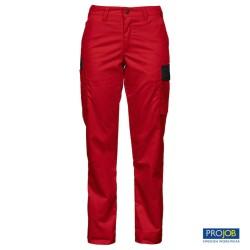 Pantalón mujer Projob 2519 - Rojo