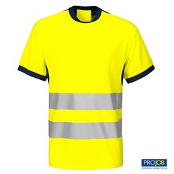 Camiseta alta visibilidad Projob 6009 - Amarillo/Marino