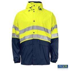 Chaqueta impermeable Alta visibilidad Projob 646431-10