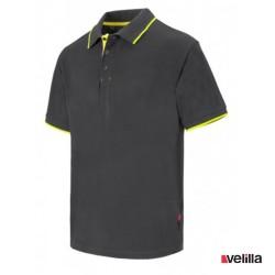 Polo bicolor Velilla Ref. 105505 - Gris/Amarillo
