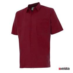 Camisa manga corta Velilla Ref. 531 - Granate