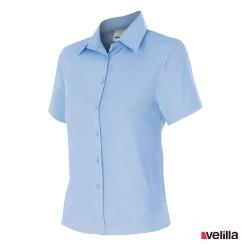 Camisa manga corta mujer Velilla Ref. 538 - Celeste