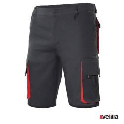 Bermuda bicolor multibolsillos Velilla Ref. 103007 - Negro/Rojo